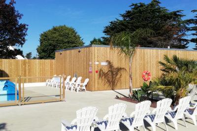 Construction parc aquatique et aménagement bois construction batiment HPA Camping - Plein Air ECO Concept