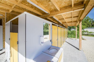 Construction sanitaire et bloc sanitaire pour HPA camping - Plein air ECO concept