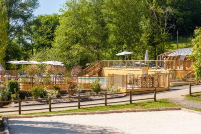 Construction aménagement bois pour parc aquatique HPA Camping - Plein Air ECO Concept