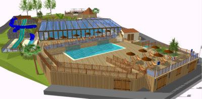 Construction parc aquatique HPA Camping Projet 3D- Plein Air ECO Concept