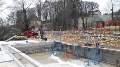 Construction parc aquatique HPA Camping